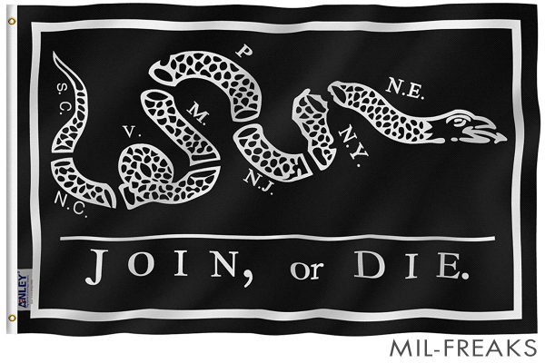 "US ""JOIN or DIE"" フラッグ 3x5フィート"